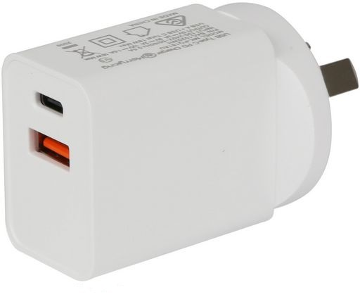 18W USB Wall Charger  QC3.0 And USB-PD White