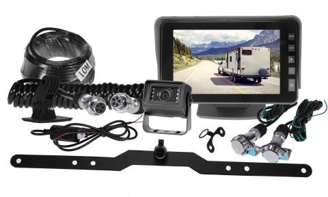5 Inch Gator Dash/Windscreen Mount High Resolution Display Dual Reverse Camera Trailer Kit GX5TRKT