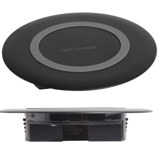 15W Recessed Mounted Wireless Charger Black