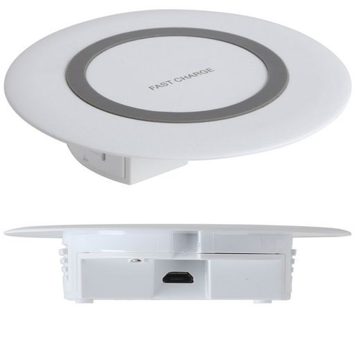 15W Recessed Mounted Wireless Charger White