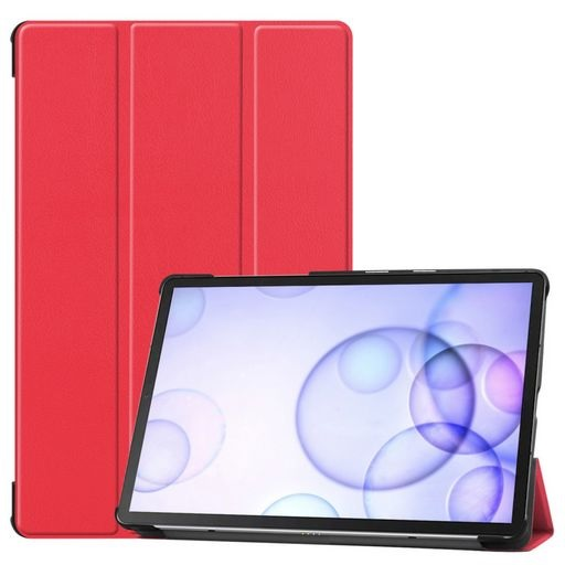 Galaxy Tab S6 Multi-fold Leather Case And Stand Red