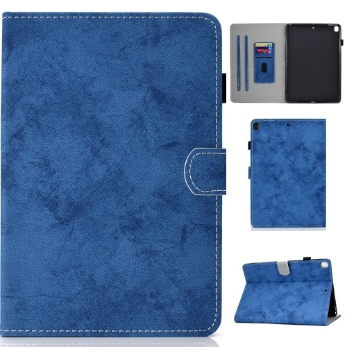iPad 7th Gen PU Leather Case Blue