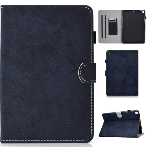 iPad 7th Gen PU Leather Case Dark Blue