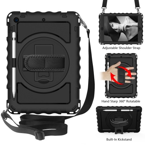 iPad 7th Gen Tough Case With Hand Grip Black