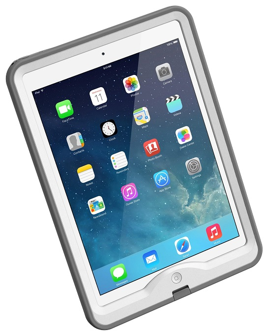 LifeProof Nuud Case suits iPad Air White Grey