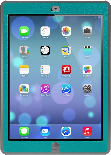 iPad Air OtterBox Defender Case Teal And Grey