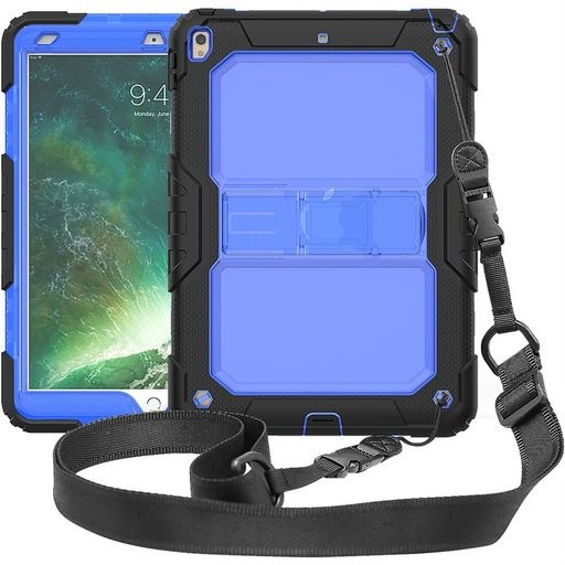iPad Air 3 (2019) Shockproof Rugged Silicone Case Blue And Black