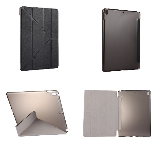 iPad Pro 10.5 Inch Multi Fold PU  Leather Case And Stand Black