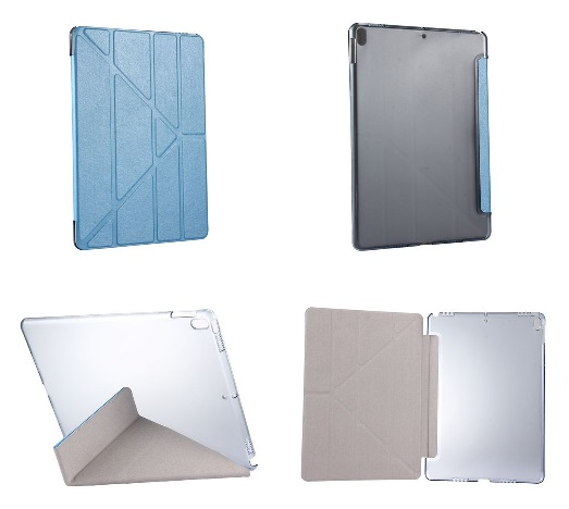 iPad Pro 10.5 Inch Multi Fold PU  Leather Case And Stand Blue