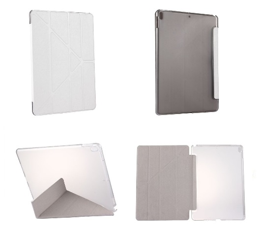 iPad Pro 10.5 Inch Multi Fold PU  Leather Case And Stand White