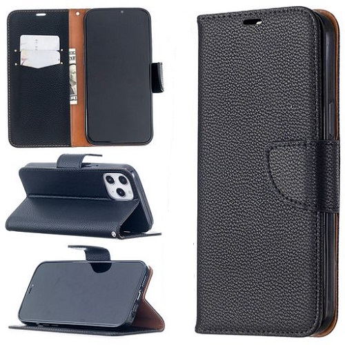 Wallet Case For iPhone 12 Pro Max Black