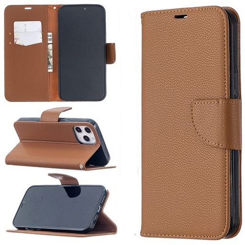 Wallet Case For iPhone 12 Pro Max Brown