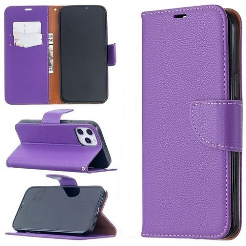 Wallet Case For iPhone 12 Pro Max Rose Purple