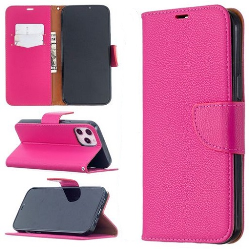 Wallet Case For iPhone 12 Pro Max Rose Red