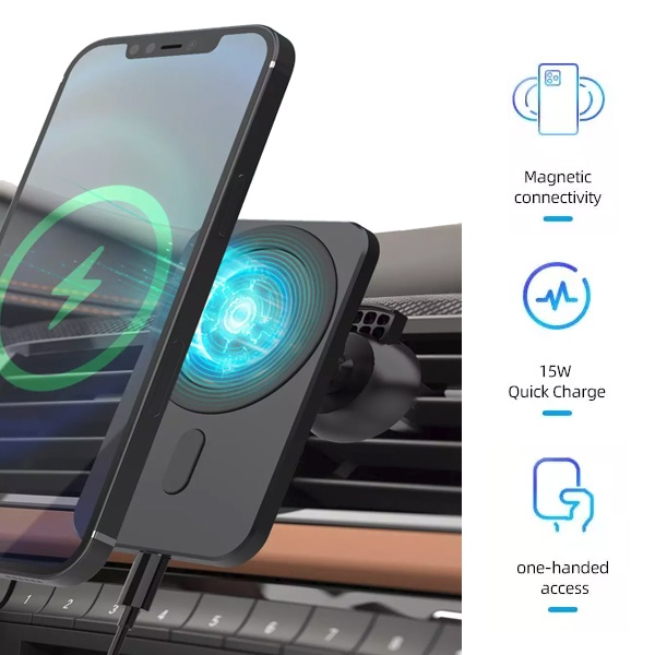 iPhone 12 Wireless Charging Magnetic Car Phone Cradle