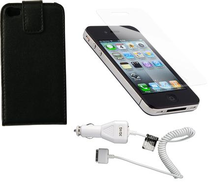 Apple iPhone 4 Accessory Triple Pack