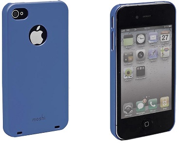 Moshi Plastic Case and Screen Protector for iPhone 4 Blue
