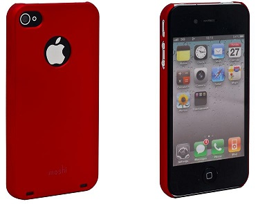 Moshi Plastic Case and Screen Protector for iPhone 4 Red