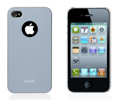 Moshi Plastic Case and Screen Protector for iPhone 4 White