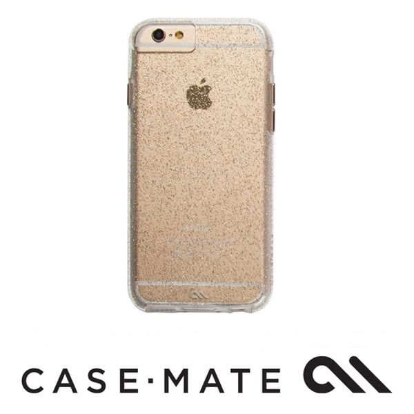 Case-Mate Sheer Glam Case suits iPhone 6S Champagne/Clear Bumper