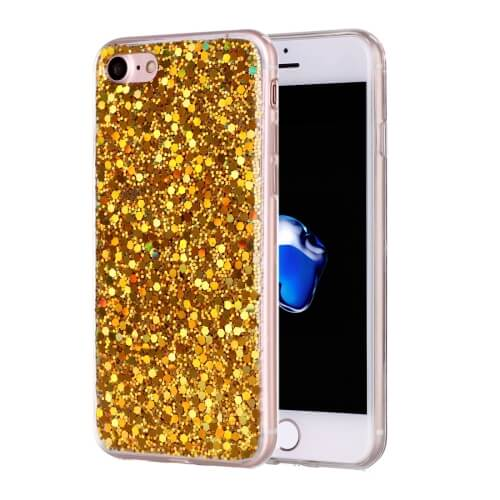 iPhone 8 Glitter TPU Case Gold