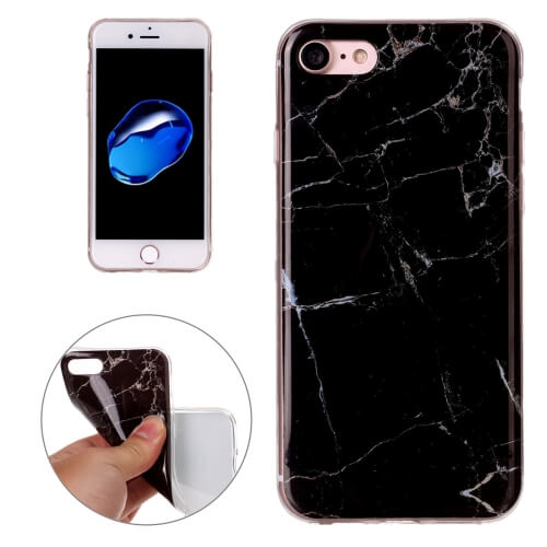 iPhone 8 Marble Pattern TPU Case Black