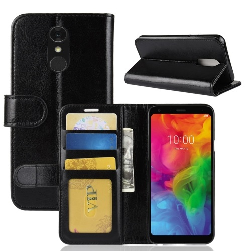 LG G7 ThinQ PU Leather Case Black