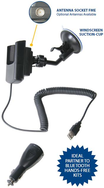 Nokia E71 Car Cradle Charger and Patch Lead