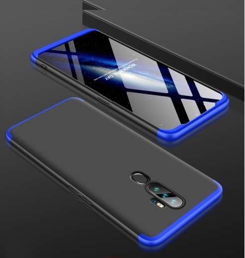 Oppo A9 2020 3 Stage Coverage Case Black Blue