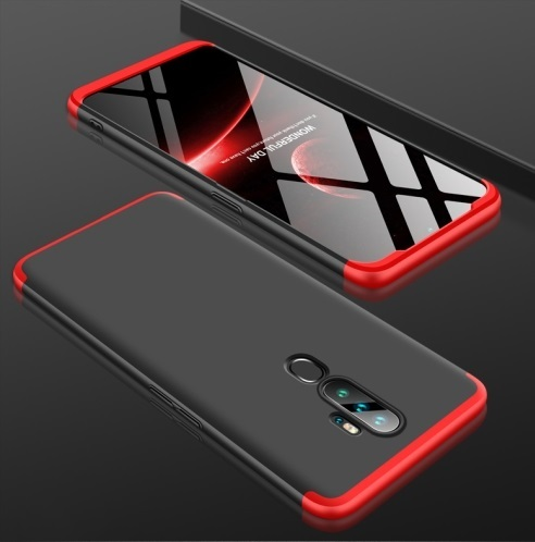 Oppo A9 2020 3 Stage Coverage Case Black Red
