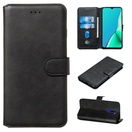 Oppo A9 2020 PU Leather Case Black