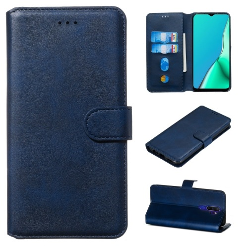 Oppo A9 2020 PU Leather Case Blue