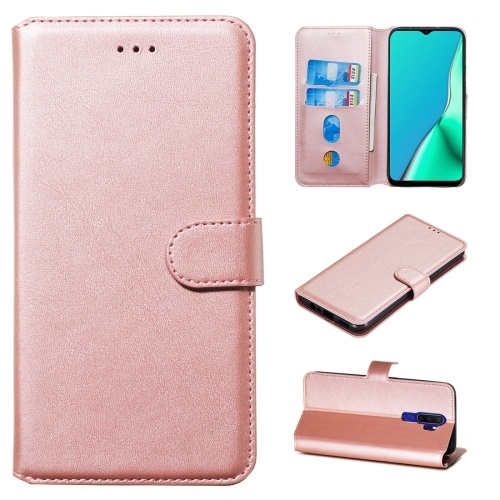 Oppo A9 2020 PU Leather Case Rose Gold