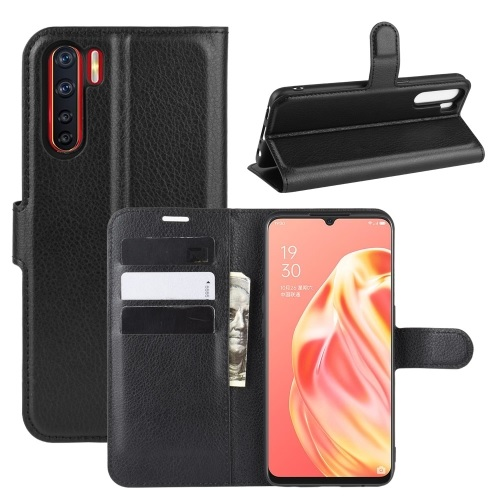 Oppo A91 PU Leather Case Black