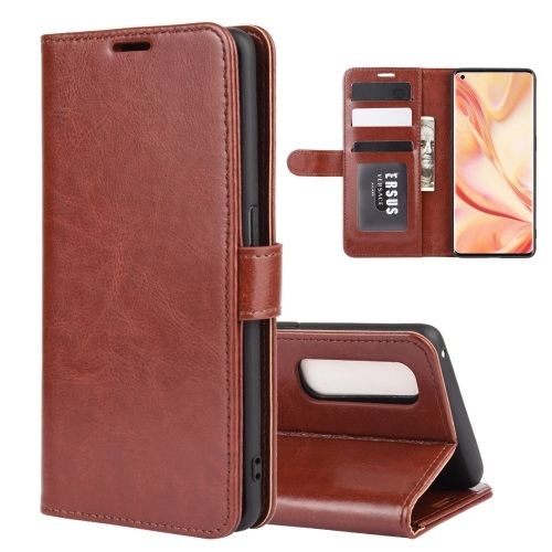 Oppo Find X2 Pro Wallet Case Brown