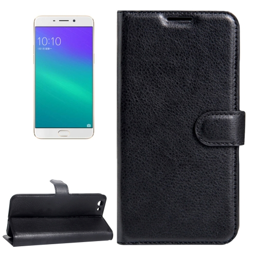 OPPO R9s PU Leather Case Black