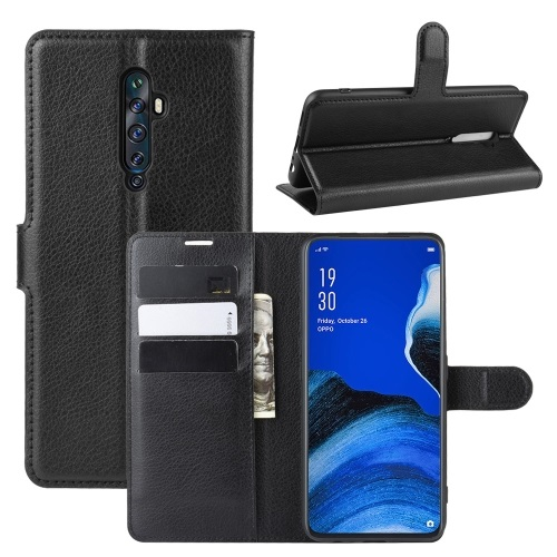 Oppo Reno2 Z PU Leather Case Black
