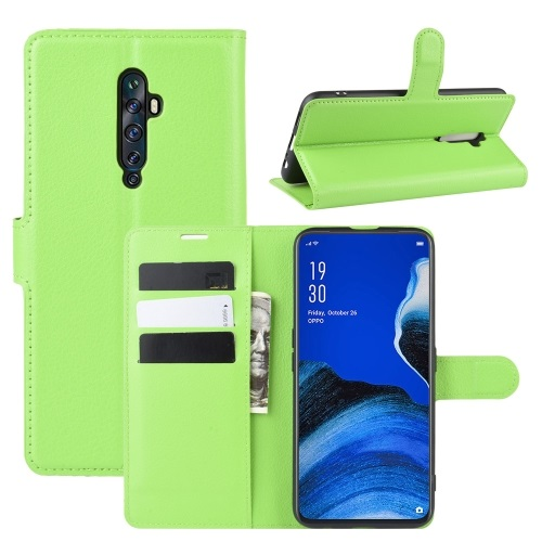 Oppo Reno2 Z PU Leather Case Green