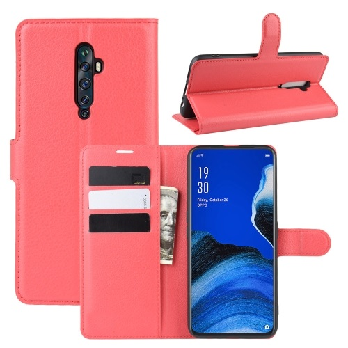 Oppo Reno2 Z PU Leather Case Red