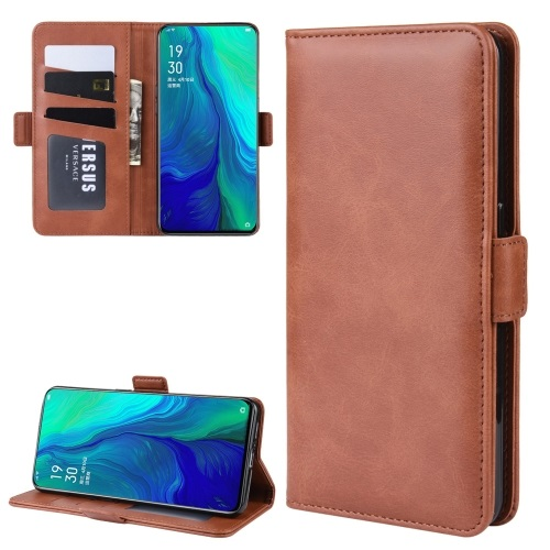 Oppo Reno 5G PU Leather Case Brown