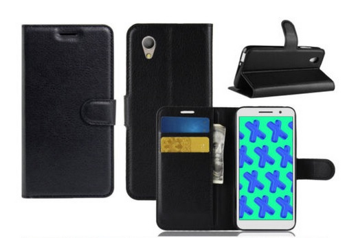Optus X Sight PU Wallet Case Black