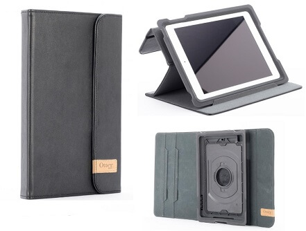 iPad Air OtterBox Agility Shell and Portfolio Leather Black