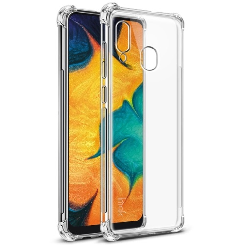 Samsung Galaxy A30 Tough TPU Case Clear With Screen Protector