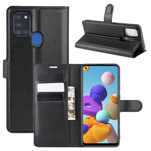 Samsung Galaxy A21s PU Leather Case Black
