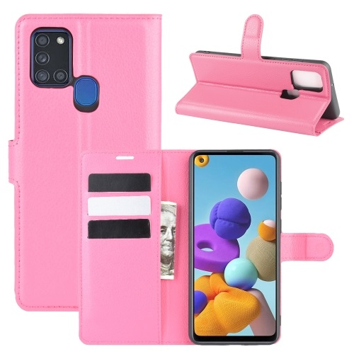 Samsung Galaxy A21s PU Leather Case Pink