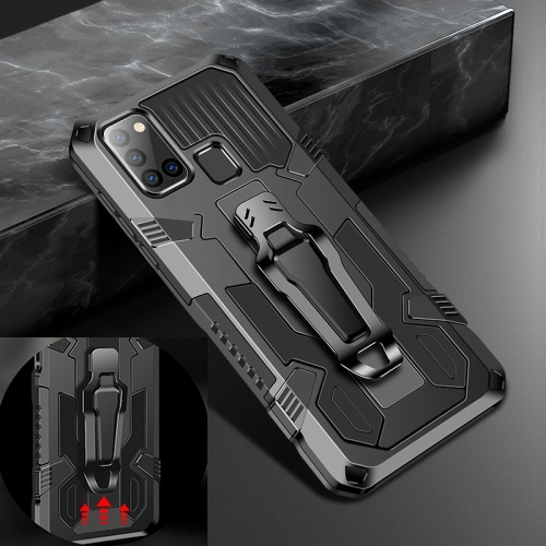 Samsung Galaxy A21s Tough Case With Belt Clip Black
