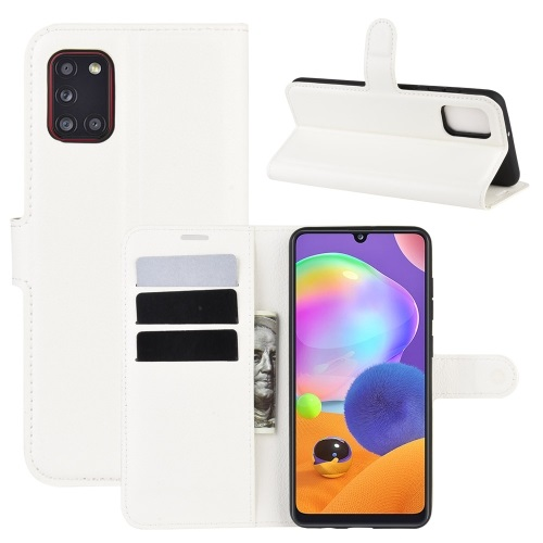 Samsung Galaxy A31 PU Leather Case White