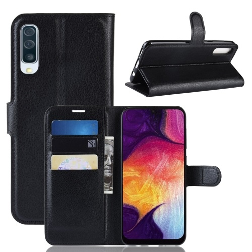 Samsung Galaxy A50 PU Leather Case Black