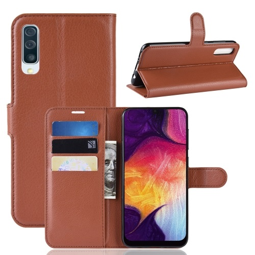 Samsung Galaxy A50 PU Leather Case Brown