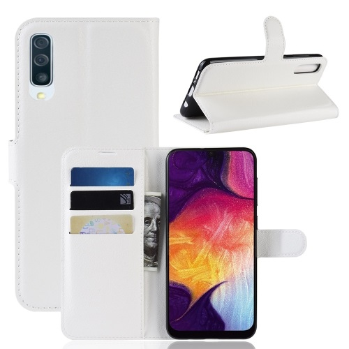 Samsung Galaxy A50 PU Leather Case White